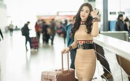 Hoàng Hải Thu xinh đẹp, nổi bật với set đồ hàng hiệu tại sân bay