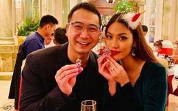 """Chụp ảnh tình tứ bên chồng mừng Giáng sinh nhưng Lan Khuê bị fan """"soi"""" hết bụng đến da"""