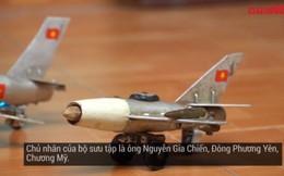 Ngắm bộ sưu tập chiến đấu cơ mini làm từ xác máy bay Mỹ, phế liệu của lão nông Hà Nội