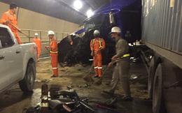 Hai xe đầu kéo đâm trực diện nhau trong hầm Hải Vân, giao thông tê liệt