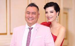 Lần hiếm hoi siêu mẫu Vũ Cẩm Nhung khoe ông xã doanh nhân