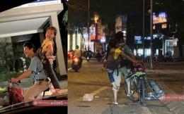 Hai cha con đạp xe, nhặt ve chai khiến người lái ô tô phải đi theo vì một lý do