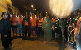 Lực lượng công an, quân đội trắng đêm tìm người bị nước cuốn mất tích