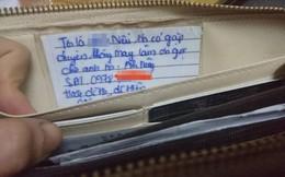 Câu chuyện may mắn ngày cuối năm: Cô gái Hà Nội được trả lại ví đánh rơi nhờ mảnh giấy nhỏ bên trong