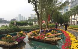 Đường hoa xuân đậm nét quê ở 'phố nhà giàu' Sài Gòn