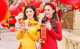 Kelly Nguyễn rủ bạn thân Lilly Luta diện áo dài đi dạo phố cuối năm