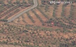 """Tên lửa người Kurd """"thổi tung"""" xe bọc thép Thổ Nhĩ Kỳ"""