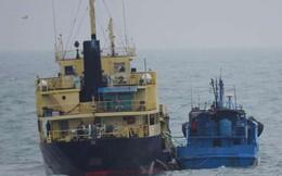 """Nhật Bản bắt quả tang tàu Triều Tiên - Trung Quốc """"dính"""" vào nhau?"""