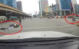 Vì một cú vặn ga thiếu ý thức, hai bên đường đều xảy ra tai nạn