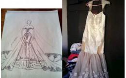 Khi niềm tin bị đặt sai chỗ: Giao bạn thiết kế váy cưới, cô gái nhận thành phẩm 'cười ra nước mắt'