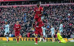 Vòng 28 Premier League: Liverpool 4-1 West Ham