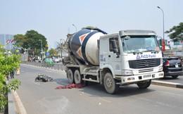 Xe bồn trộn bê tông cán chết người giữa Sài Gòn