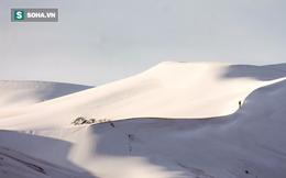 Kỳ lạ: Tuyết phủ trắng sa mạc Sahara lần thứ 2 trong vòng 1 tháng qua