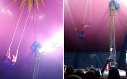 Clip: Đang biểu diễn, diễn viên xiếc ngã lộn nhào trước mặt khán giả
