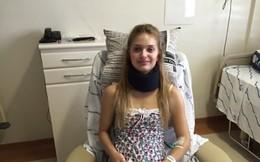 Gặp nạn khi tập gym, cô gái xinh đẹp gãy xương cổ, liệt tứ chi