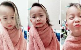 """Clip """"em bé tóc mây"""" phản ứng quá cute khi bị mẹ mắng nhận ngay 1.6 triệu view chỉ sau 2 ngày lên sóng"""