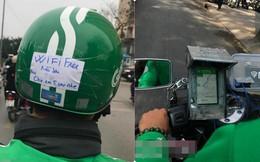 """Lắp cục phát wifi trên xe máy, tài xế Grab khiến dân mạng thốt lên: """"Ai nỡ cho 1 sao"""""""