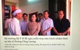 Bộ trưởng Bộ Y tế xin tha cho BS Lương là tin giả