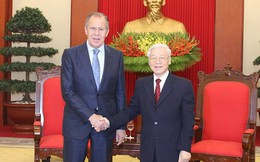 Tổng Bí thư Nguyễn Phú Trọng tiếp Bộ trưởng Ngoại giao Nga