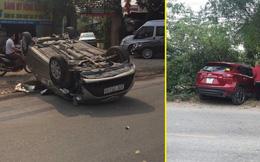 Xe Toyota chạy lấn làn tông trúng ô tô Mazda, 2 người bị thương