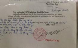 Cán bộ tư pháp giả chữ ký chủ tịch để hợp thức hóa nhà trái phép của người thân