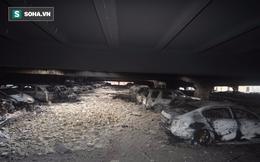 Quang cảnh cả ngàn chiếc ô tô bị cháy trơ khung trong trận hỏa hoạn ở nước Anh