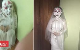 Đêm tân hôn, cô dâu bỗng nhiên mang 'mặt nạ quái vật' bước vào khiến chú rể hết hồn!