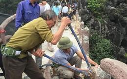 Cận cảnh tháo dỡ công trình 'khủng' xâm phạm di sản Tràng An