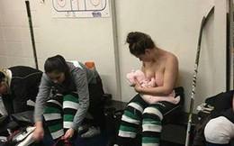 Cởi hết áo để cho con bú, nữ VĐV bất ngờ với phản ứng từ dân mạng