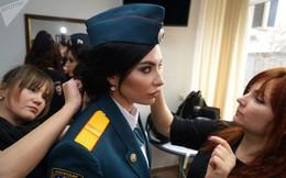 Ảnh: Nhan sắc các nữ quân nhân, cảnh sát trong cuộc thi sắc đẹp ở Nga