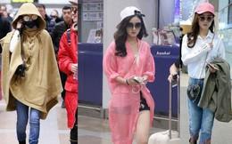 Nhan sắc thì có nhưng thời trang sân bay của Triệu Lệ Dĩnh vẫn đáng báo động