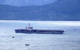 """Hôm nay """"đại bàng vàng"""" USS Carl Vinson của Hạm đội 7 Mỹ rời Đà Nẵng"""
