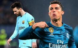 """Tịt ngòi ở trận thua AS Roma, Messi đã """"đầu hàng"""" trước Ronaldo"""