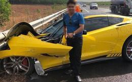 """Sau tai nạn kinh hoàng, chủ xe Chevrolet Corvette chụp hình đăng Facebook: """"Chúc mọi người mua được siêu xe để đi an toàn"""""""