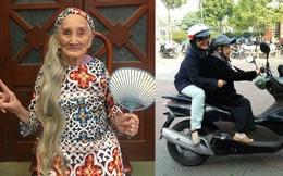 """Hình ảnh bà ngoại thích mặc áo dài """"hot"""" nhất trên mạng xã hội ngày hôm nay"""