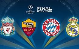 Bốc thăm bán kết Champions League 2017/2018: Real đại chiến Bayern?