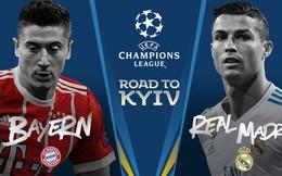 Bốc thăm bán kết Champions League: Bayern Munich đối đầu Real Madrid!