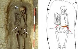 Khai quật bộ xương chiến binh kỳ lạ với cánh tay được thay thế bằng một con dao