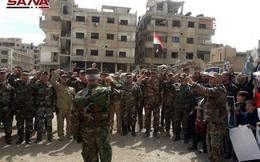 Quân thánh chiến Đông Ghouta sụp đổ: Thượng cờ Syria ở hai sào huyệt Jobar và Aym Tarma