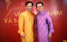 Diễn viên Quang Tèo - Trần Nhượng trông bảnh bao khi diện áo dài