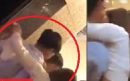 Xôn xao clip cô gái trẻ ra sức can ngăn người yêu cũ và bạn trai mới đánh nhau trong quán karaoke