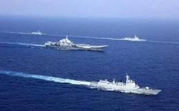 """Trung Quốc cấm biển: Tập trận tàu sân bay và cho """"hàng nhà trồng"""" chạy thử?"""