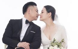 Bộ ảnh cưới lãng mạn của Hữu Công và vợ hot girl