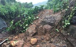 Đang ngồi trú mưa thì bị tảng đá sạt lở đè trúng, 2 người chết