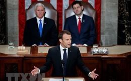 Tổng thống Pháp Emmanuel Macron phát biểu trước Quốc hội Mỹ