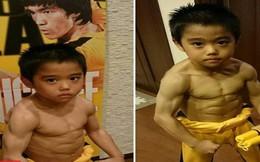 Lý Tiểu Long phiên bản nhí nổi tiếng với thân hình cơ bắp dù mới 8 tuổi