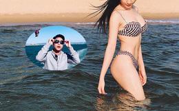 Hòa Minzy diện bikini nóng bỏng, công khai bày tỏ tình cảm với bạn trai thiếu gia
