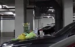 Chủ xe thắp nhang cúng ôtô mới trong tầng hầm chung cư ở Sài Gòn gây tranh cãi