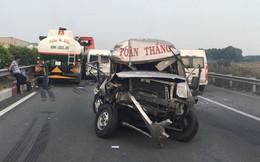Hiện trường khói bao trùm cao tốc TP HCM - Dầu Giây khiến nhiều xe tông nhau liên hoàn