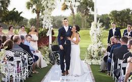 Chú rể bước đi trong ngày cưới sau 7 năm bất động và phép nhiệm màu của tình yêu